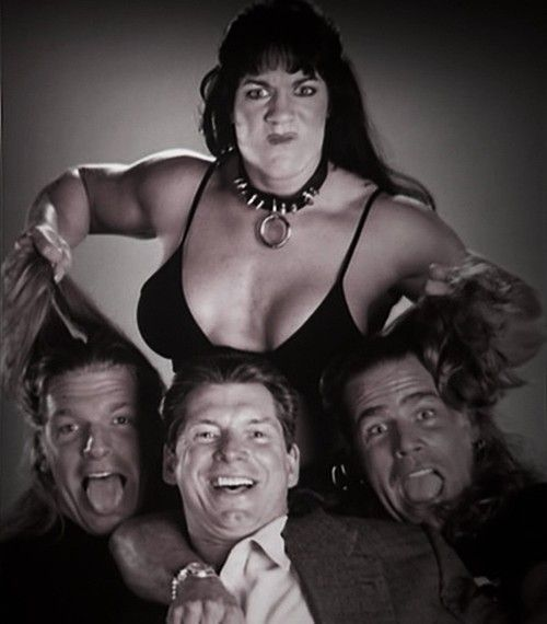 Cool picture of Chyna, Triple H, Vince McMahon, & Shawn Michaels