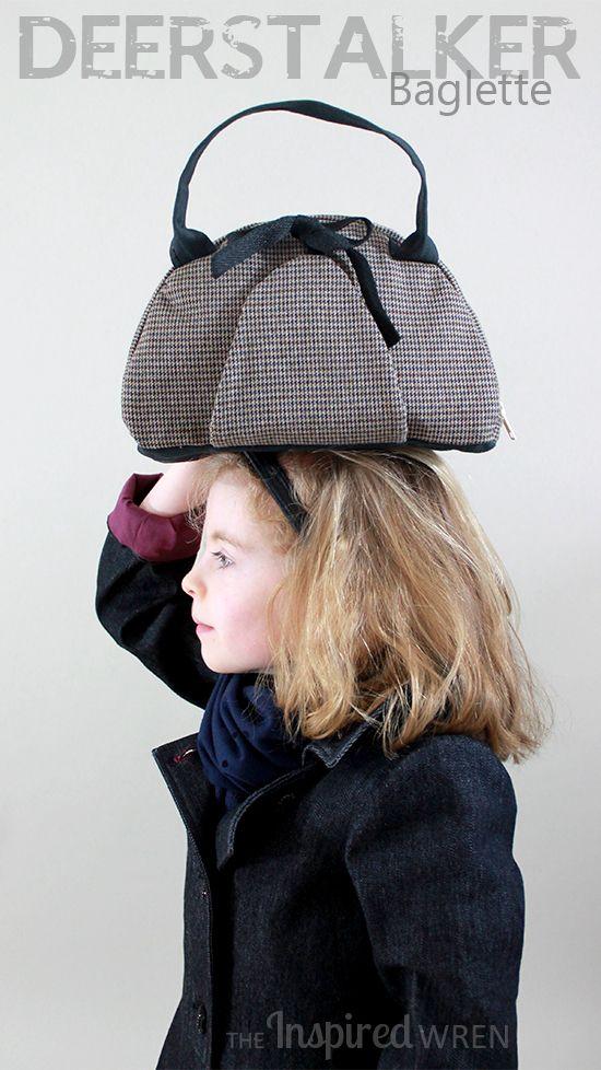 Love this bag! Deerstalker Baglette, part of a mini female Sherlock cosplay sewn for Project Run & Play, Season 11 Week 2 | The Inspired Wren