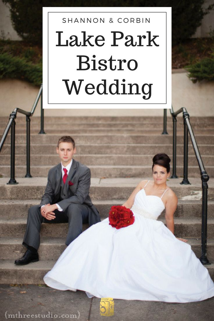 Shannon and Corbin's classic and modern wedding at Lake Park Bistro.