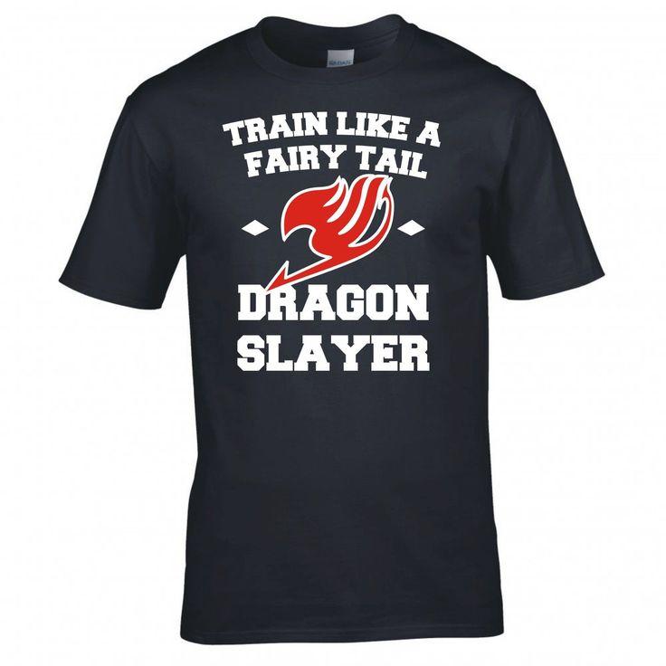 T Shirt  Men Summer Casual Fairy Tail Dragon Slayer Anime Manga T Shirt New Great Discount Cotton Men Tee #Affiliate