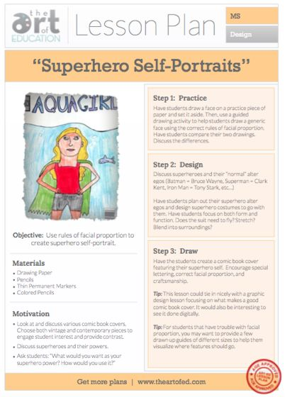 Superhero Self-Portraits: Free Lesson Plan Download