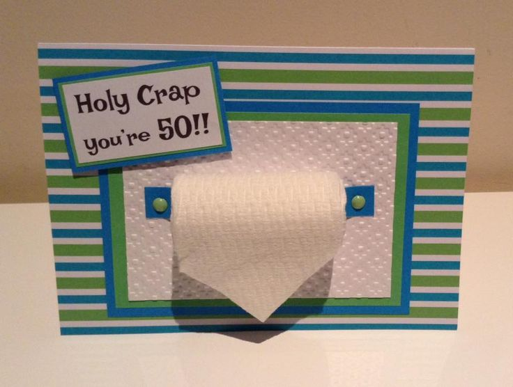 Holy crap you're 50!! Fun birthday card.  Cards can be made to order. Created by DiNamic Hand Made cards Like us on Facebook