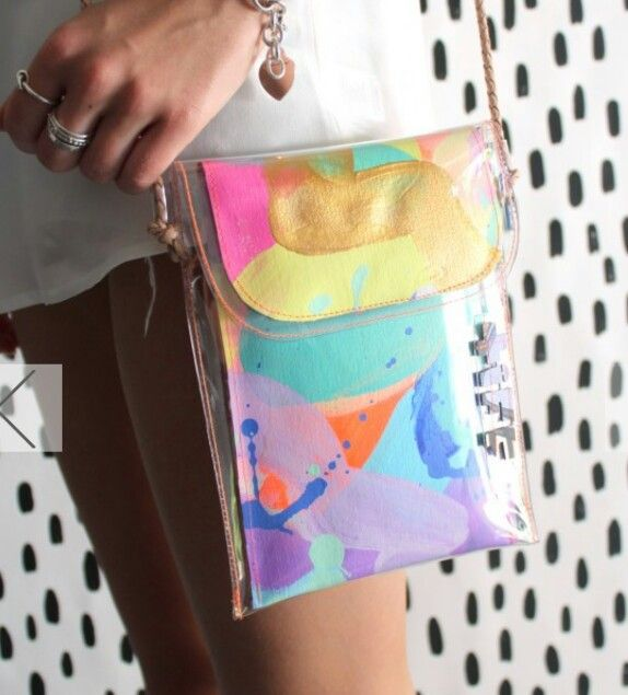 Tiff manuell cotton candy hand bag available at her website. Cute!