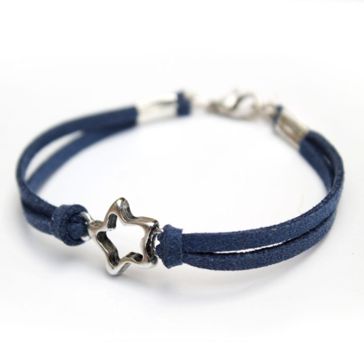 Armband ster zilver | Blauw