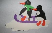 Pinguïns op de slee - Knutselen!