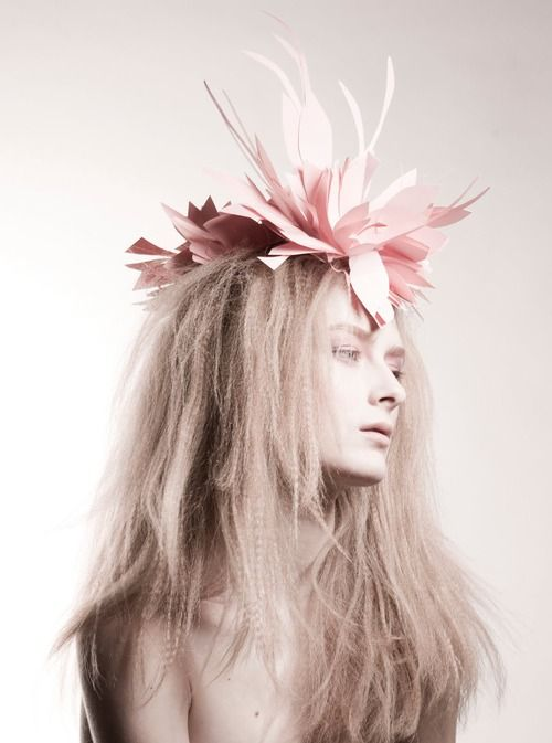 Photo by Armelle Bouret and paper hat by Alexandra Konwinski