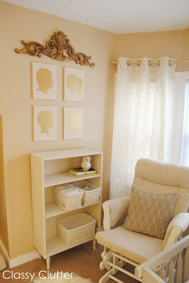 Classy Clutter: Babys Mini Nursery Nook (in our Master Bedroom)