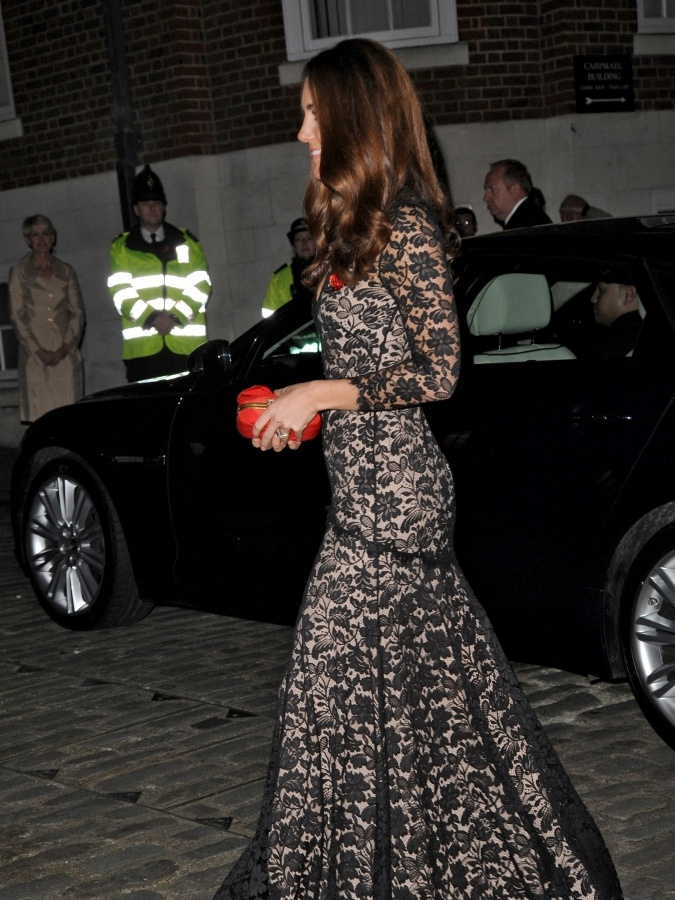 Kate Middleton in Alice Temperley Dress at University of Scotland gala with Prince William