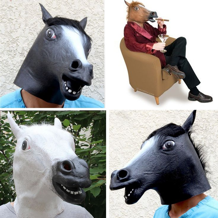 TAOS Latex Horse Head Mask for Halloween Carnival Christmas Easter Cosplay Costume Party Decoration Mascaras De Latex Realista