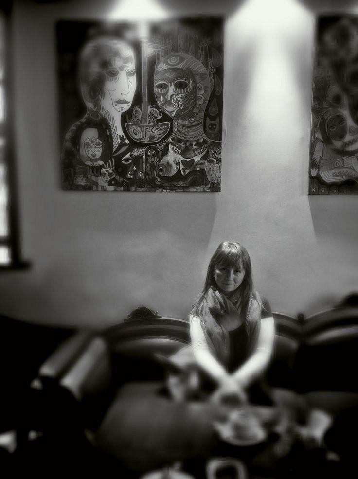 В кафе Ужуписа
