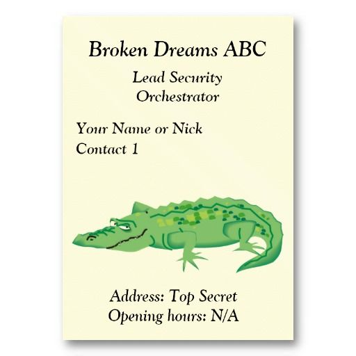 Funny business/profile card with crocodile business card template #businesscards