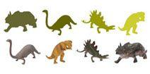 Jeux pour les tout petits. Dinosaures! Les enfants jouent, accompagnés par les mamans et les papás.