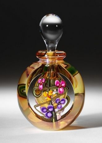 Hand blown Art Glass Perfume Bottle by Roger Gandelman www.gandelmanglass.com