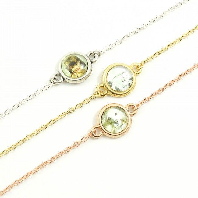 Fijn, subtiel armbandje met foto ovaal zilver, goud of rosegoud. Een leuk en persoonlijk cadeau om te geven om te krijgen! Moederdag, kerst, valentijn, zussen, getuige, bruidsmeisje, kind, sieraad, armband, armcandy