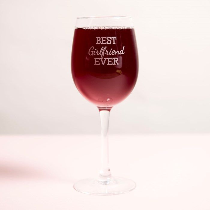 Personalised Wine Glass - Best Girlfriend Ever | GettingPersonal.co.uk