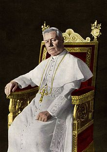 .@Wikipedia:  Pope #Saint Pius X