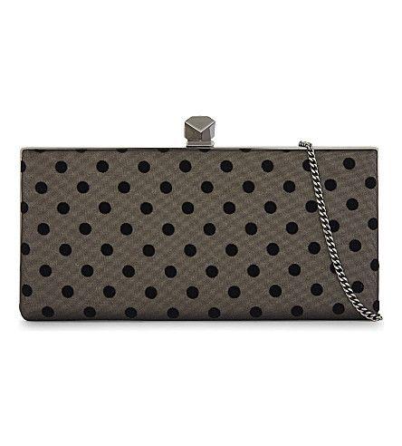 Polka Dot Celeste clutch bag - Grey Jimmy Choo London 7bo5LxV
