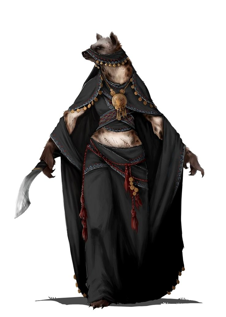 Female Gnoll Cleric of Lamashtu - Pathfinder PFRPG DND D&D d20 fantasy