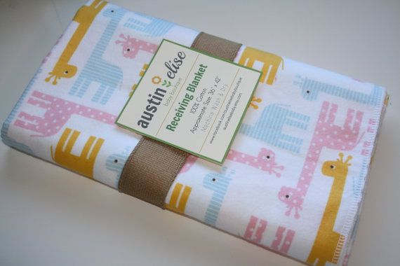 Baby Blanket  Oversized Single-Sided Flannel by AustinEliseBaby
