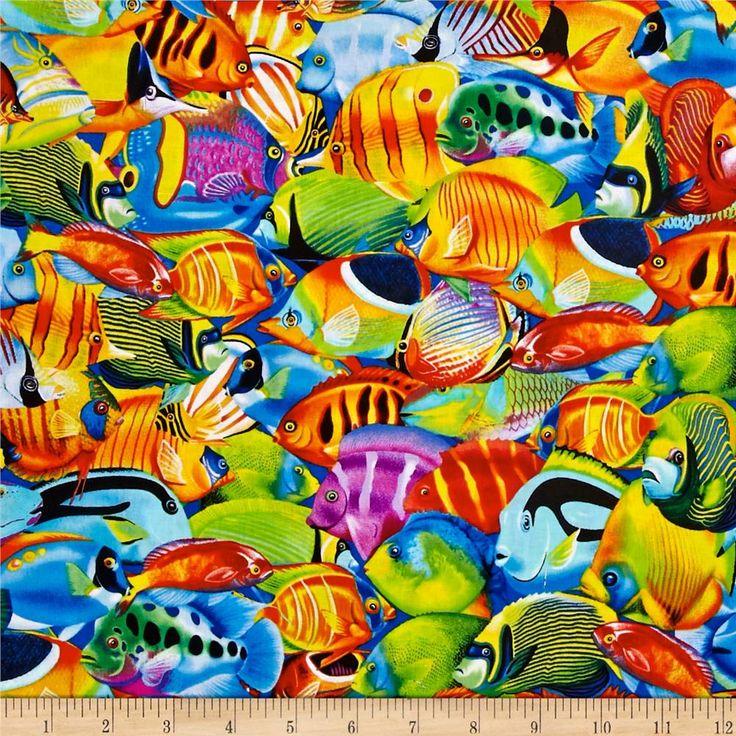 Timeless Treasures Fish Multi