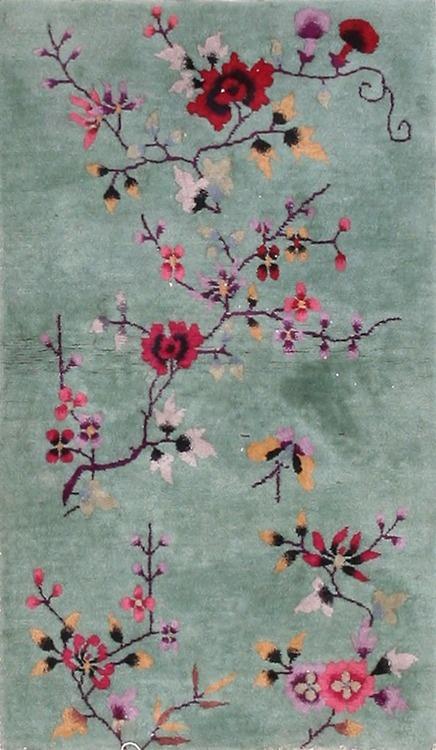 "#234 Chinese Art Deco Carpet    2'8"" x 4'6"""