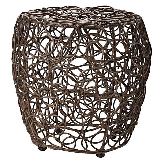 The Spiro Stool from LS Collections offers your space the benefit of compact seating with a trendy, textured accent.