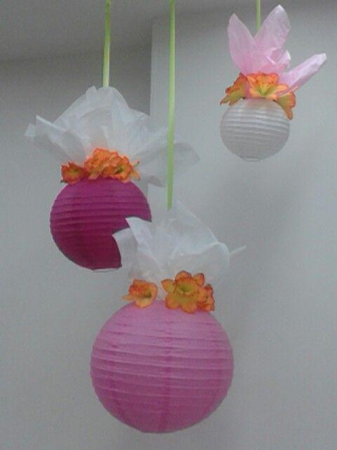 Decoración con globos chinos