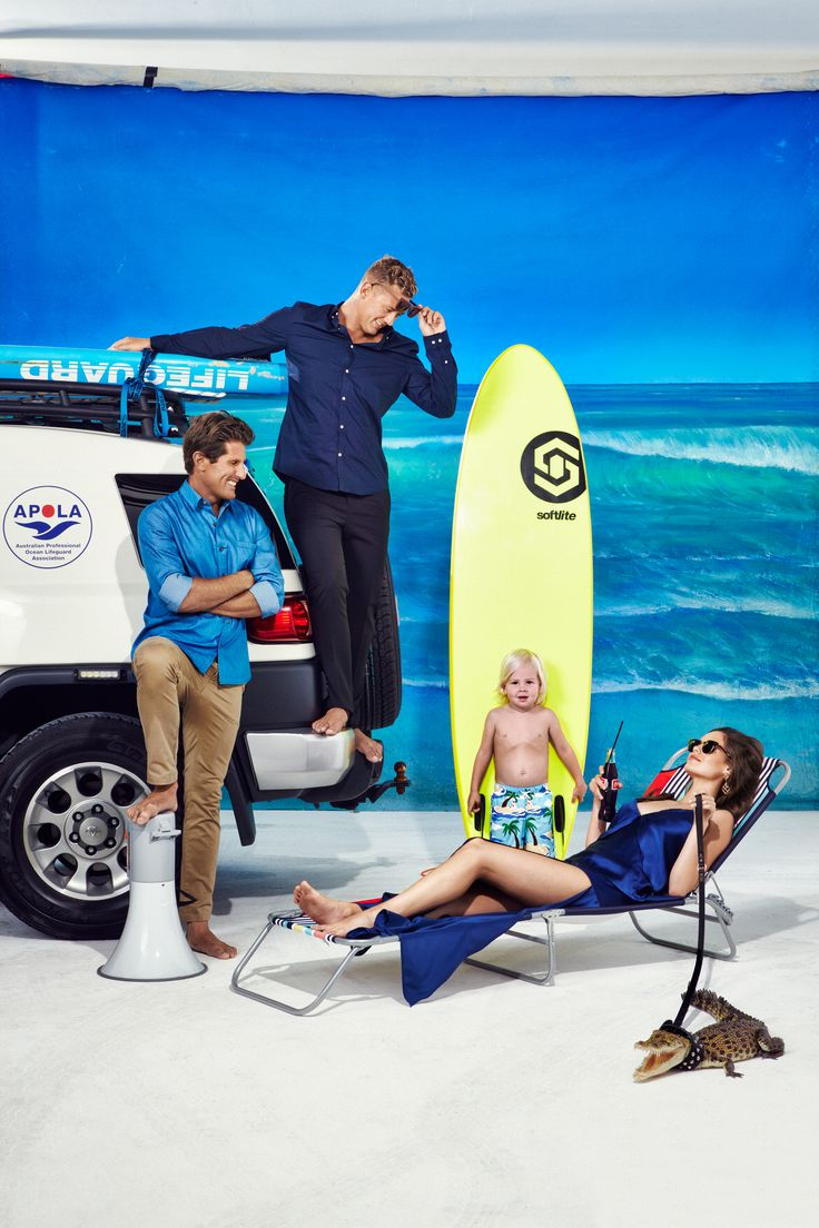 """Surf Report"" March 22 Issue. Shot by Damian Bennett. Styled by Emma Freebairn. Starring the Bondi Rescue Lifeguards."