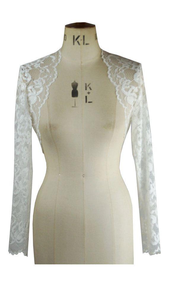 Baylis & Knight Pure Ivory Lace Cropped Long by BaylisandKnight