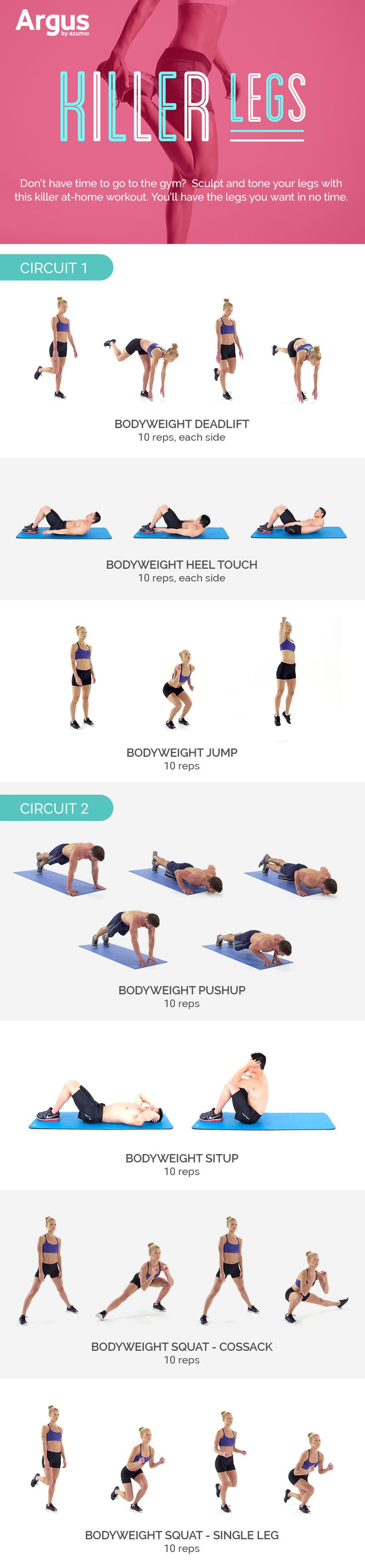 This workout plus many more are available on Argus Premium. Click here to download the Argus app: http://www.azumio.com/