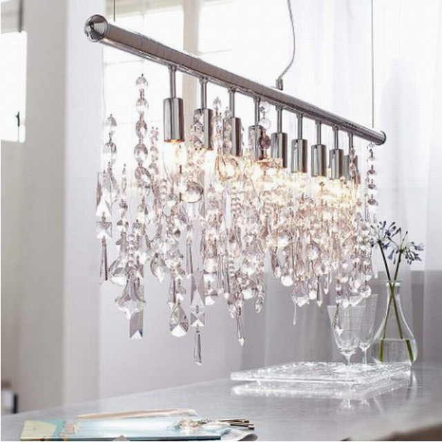 Online Shop New Design Modern Chrome Large Lustre Lumiere K9 Led Crystal Chandeliers Fixtures In 2020 Led Crystal Chandelier Crystal Light Fixture Modern Crystal Light