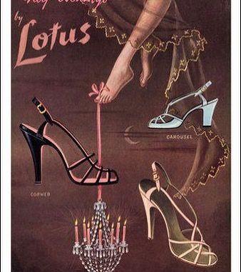 e5d0611744ef54  LOTUSSHOES womensfashions footwear heels strappysandals  vintage advertisement