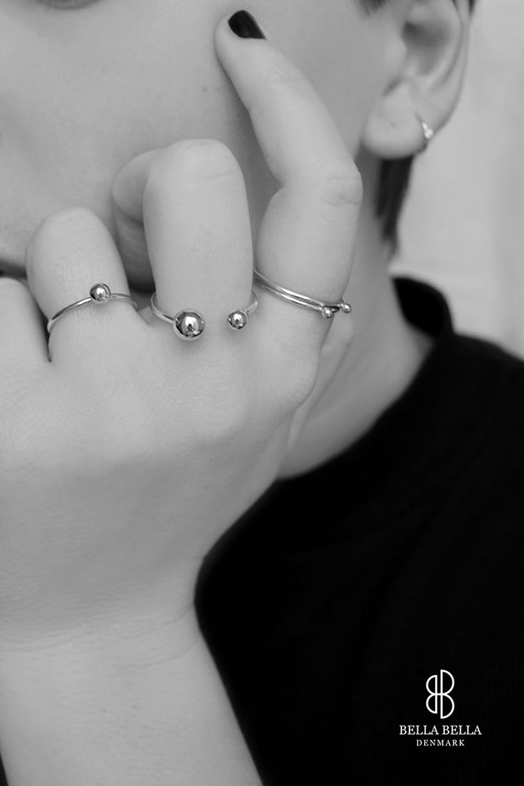 Bubble rings from the Orbit Collection by Bella Bella Denmark
