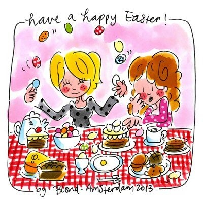 Have a Happy Easter (aan tafel) - Blond Amsterdam
