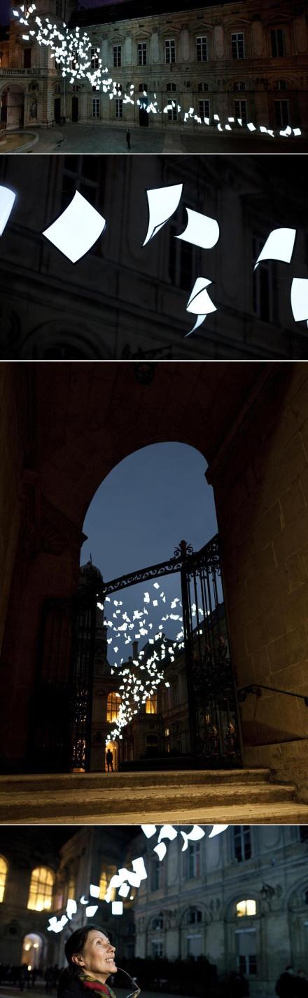 Bourrasque by lighting designer Paul Cocksedge