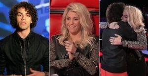 Shakira fala em português com brasileiro no 'The Voice USA' - Sam Alves, criado nos Estados Unidos após ter sido abandonado pelos pais biológicos no Brasil, cantou 'Feeling Good' e ganhou um abraço de Shakira no 'The Voice USA'