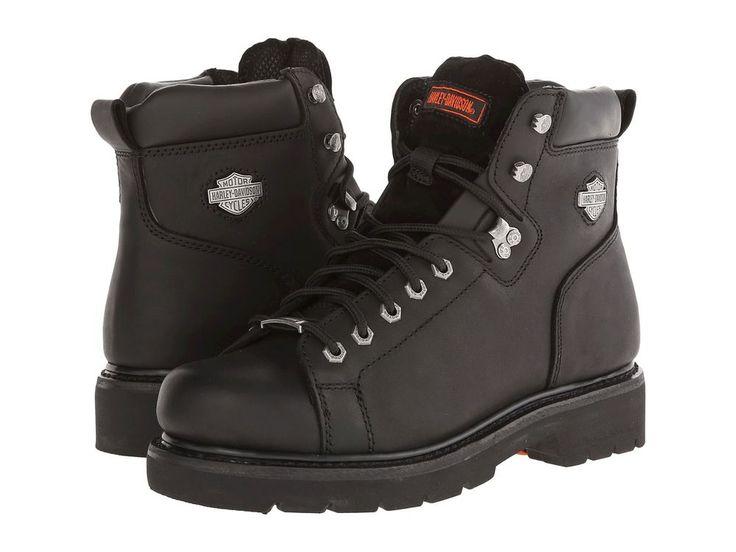 Harley Davidson BARTON Black Leather Casual Dress Boots D93199  #HarleyDavidson #BARTONBOOT