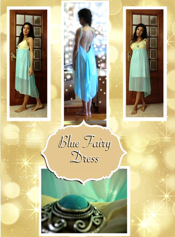 Blue Backless Fairy dress <3   When I wear this dress I truly feel like a fairy :)