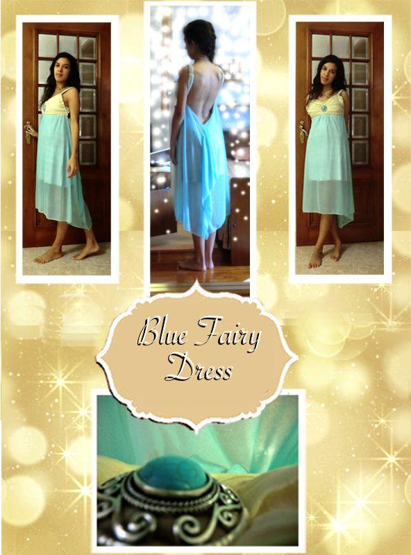 Blue Backless Fairy dress <3   When I wear this dress I truly feel like a fairy :)