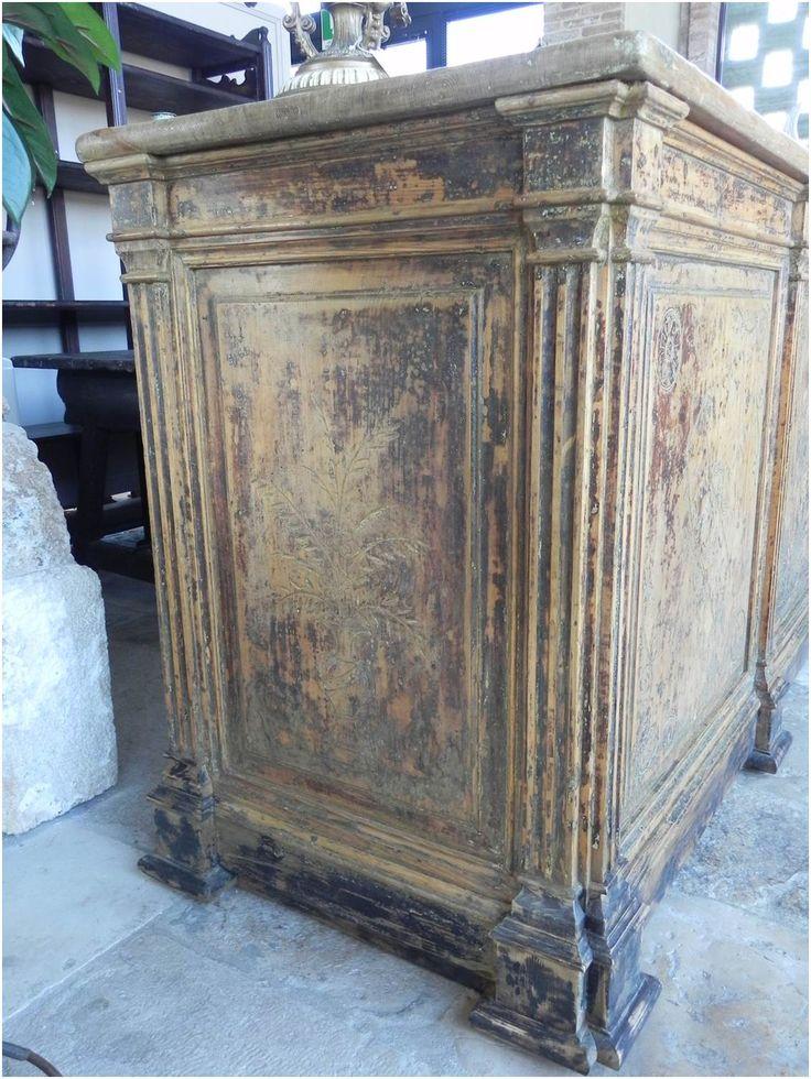 Bancone da negozio antico in legno dei primi del '900 | Lacole