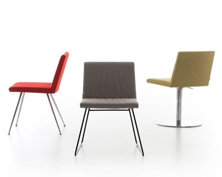 De strakke stoel Quba is te voorzien van vele soorten stoffen, kleuren en onderstellen. De licht gebogen rug en zitting zorgen voor een prettig zitcomfort. De stoel is inzetbaar op meerdere plekken en is ideaal als vergaderstoel, conferentiestoel of bezoekersstoel.