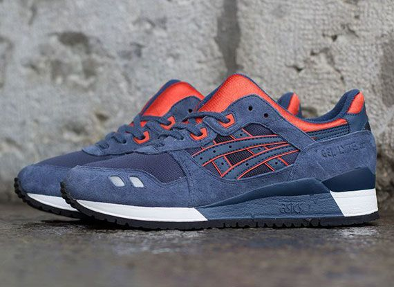 Asics Gel Lyte III - Navy - Orange - White - SneakerNews.com