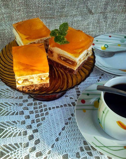 """Domowa Cukierenka - Domowa Kuchnia: ciasto """"brzoskwiniowe wydmy"""" Siostry Anastazji"""