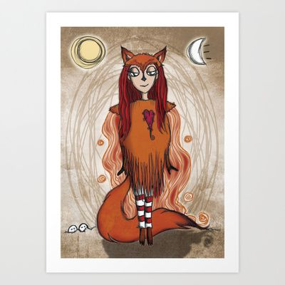 Foxy Lady Art Print by Girl Quirky - $25.00