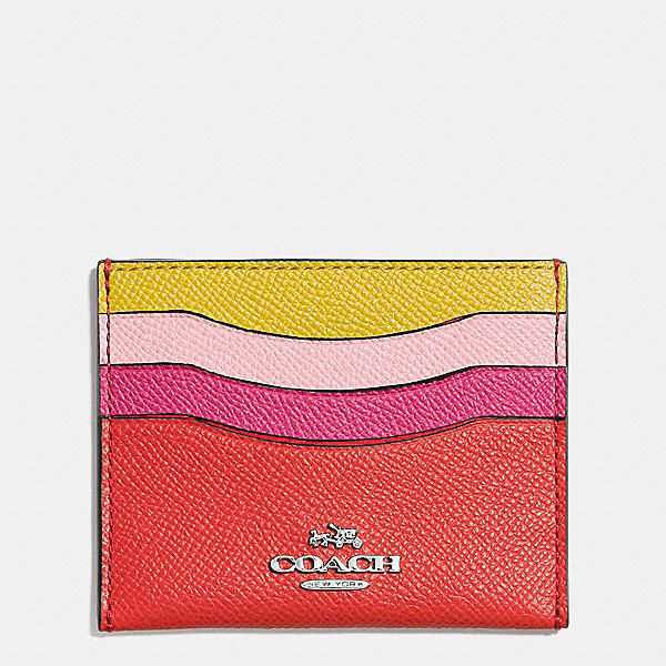 Coach Flat Card Case in Colorblock Leather #handbagessentials