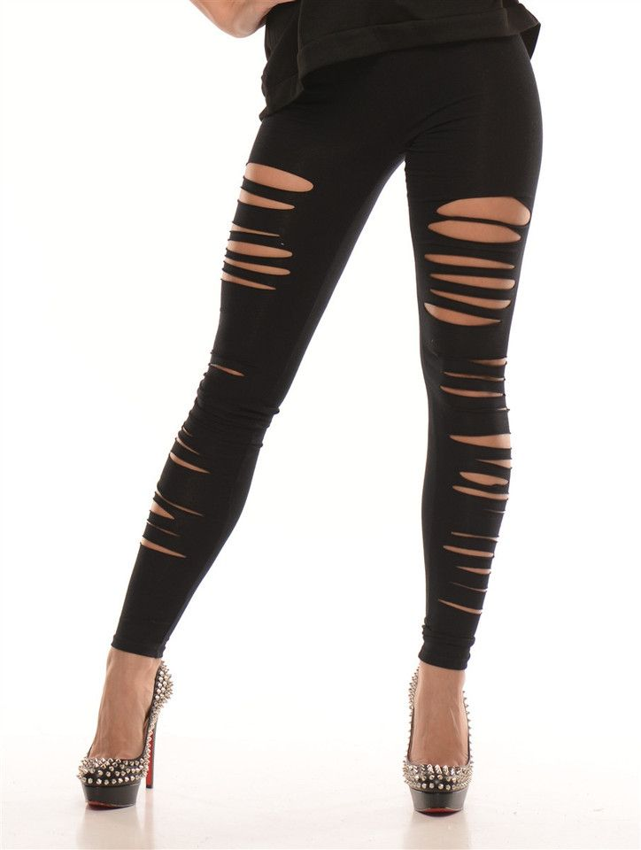 17 best ideas about Ripped Leggings on Pinterest   Punk ...