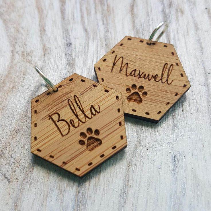 Wooden Pet Tags