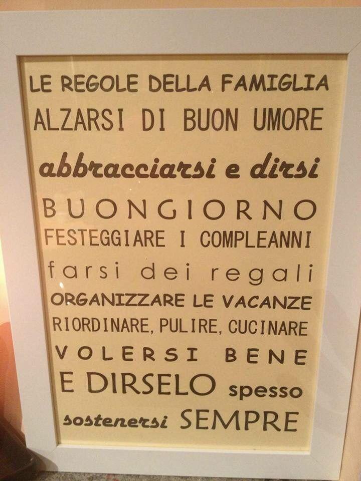 Le regole della famiglia