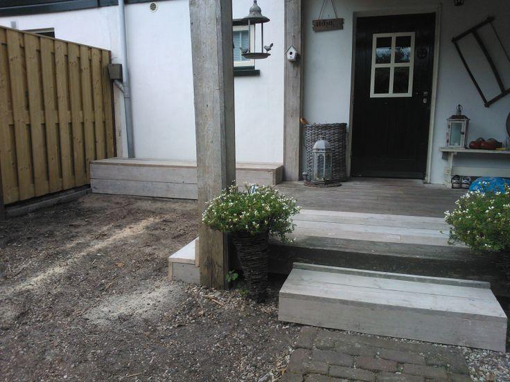 Steigerhouten bank op maat, renovatie veranda. Door Edwin Meijering klussen-meubels-interieur.