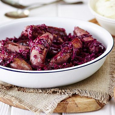 Sausage & Red Cabbage Casserole - from Lakeland